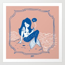 Vampire Mermaid Art Print