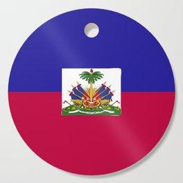 Haiti flag emblem Cutting Board