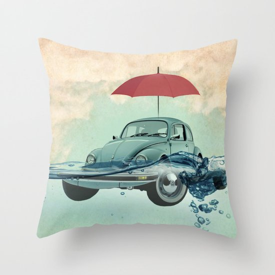 Chance of rain in deep water Throw Pillow