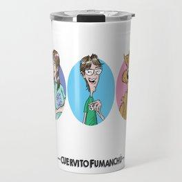 El Cuervito Fumanchú   Valiste Sanguito Travel Mug
