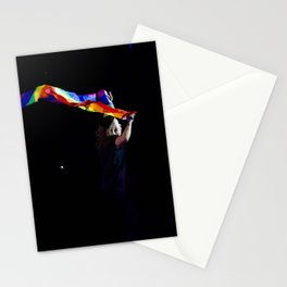 Harry with a Pride Flag Stationery Cards