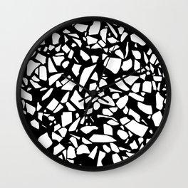 Terrazzo White on Black Wall Clock