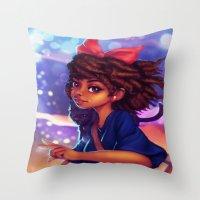 kiki Throw Pillows featuring Kiki by RSArts