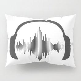 Headphones sound wave beats Pillow Sham