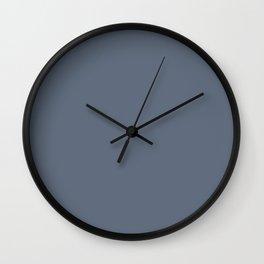Solid Dark Jet Gray Color Wall Clock
