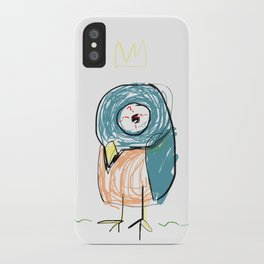 Stressed out Little King Bird  iPhone Case