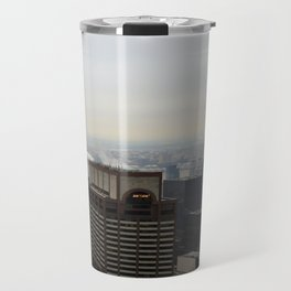 NYC West Side Panorama with Hudson River Travel Mug