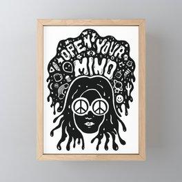 Open Your Mind in black Framed Mini Art Print
