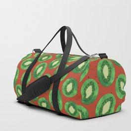 Kiwis on Orange Duffle Bag