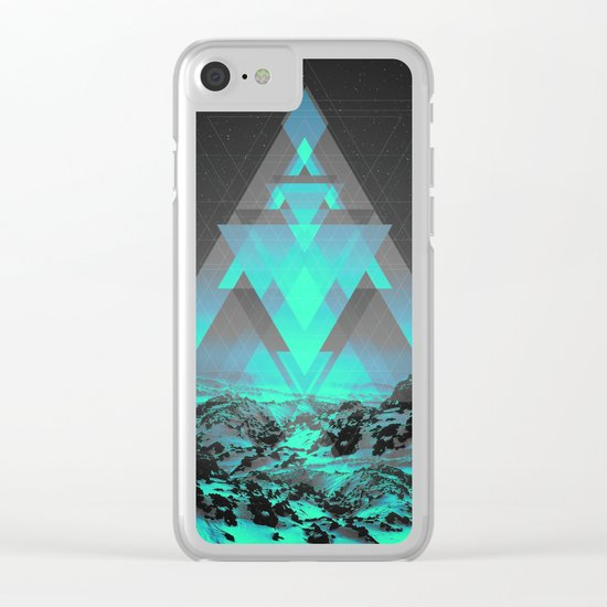 Neither Real Nor Imaginary II Clear iPhone Case