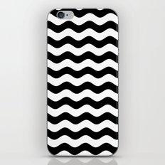 Wavy Stripes (Black/White) iPhone & iPod Skin