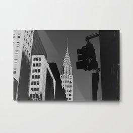 Black and White New York City Metal Print
