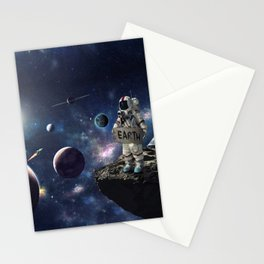 Stuck in Space Stationery Cards