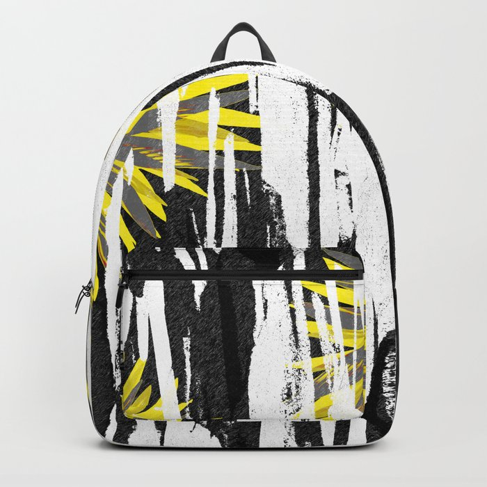 Abstract Palm Tree Leaves Design Backpack