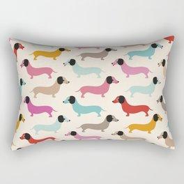 Sweet retro dachshund doxie puppy pattern Rectangular Pillow