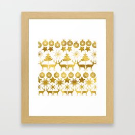 Gold Christmas 04 Framed Art Print