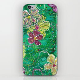 Green Abstract Painting iPhone Skin