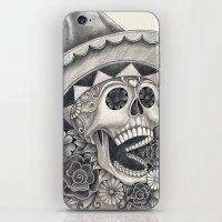 dia de los muertos iPhone & iPod Skins featuring Dia de Los Muertos by afzucatti