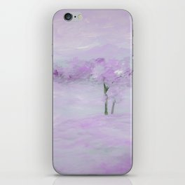 Purple Landscape with Trees iPhone Skin