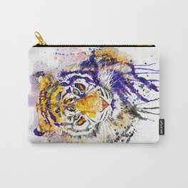 Tiger Head Portrait Carry-All Pouch