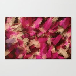 pink purple and black painting texture abstract background Canvas Print