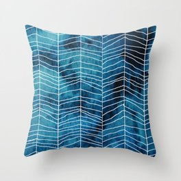 Run Mountain Blues Leggings* Throw Pillow
