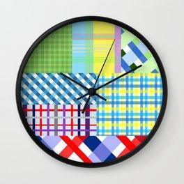 Crazy Plaid Spring Wall Clock
