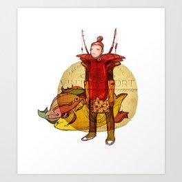 fisher muzh Art Print