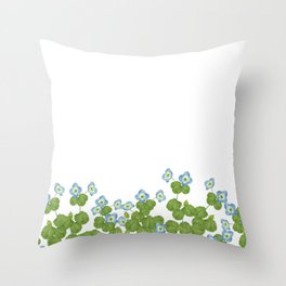 Watercolor Persian speedwell Throw Pillow