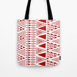 Zig Zag Pattern -  brick red Tote Bag