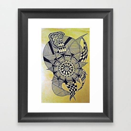 Elephant Flower Framed Art Print