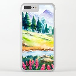 Spring Scenery #3 Clear iPhone Case