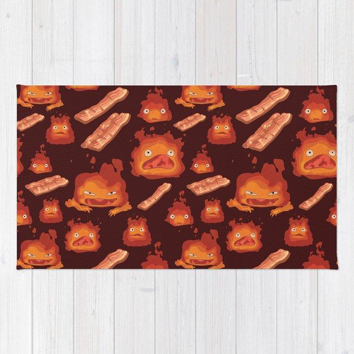 Calcifer + Bacon Pattern Rug