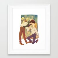 happiness Framed Art Prints featuring Happiness by Marta Milczarek