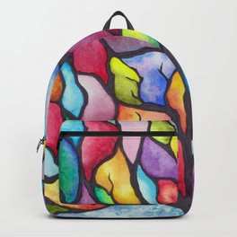 Watercolor Mosaic Tree Backpack