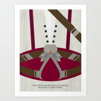 video game Art Prints featuring Video Game Poster: Assassin by Justin D. Russo