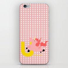 u for unicorn iPhone Skin