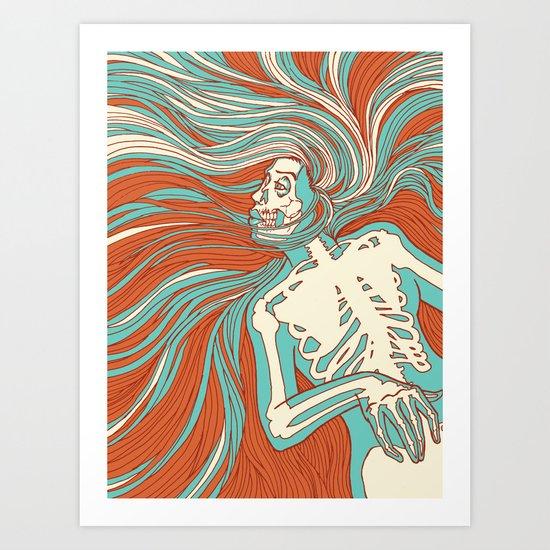 Skeleton Girl Art Print