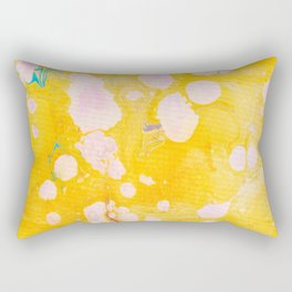 speckled marble | yellow Rectangular Pillow