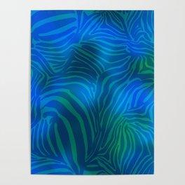 Zebra goes underwater Poster