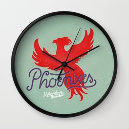 Phoenixes Wall Clock