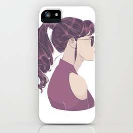 Purple Ponytail iPhone Case