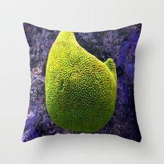 Lime green sea creature Throw Pillow