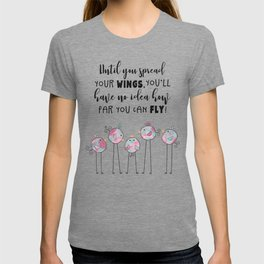 Spread Your Wings And Fly Watercolor Doodle Birds T-shirt