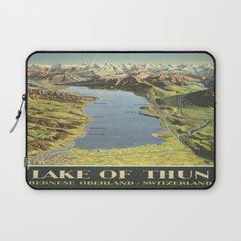 Vintage poster - Lake of Thun Laptop Sleeve