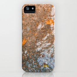 Water and foil iPhone Case