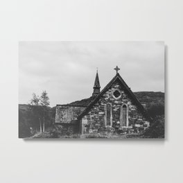 Old Ireland Church 2 Metal Print