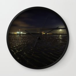 Sandymount Strand at Night Wall Clock