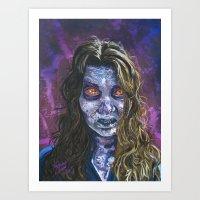 Art Print featuring Angel Eyes Zombie, The Walking Dead by Shawn Conn