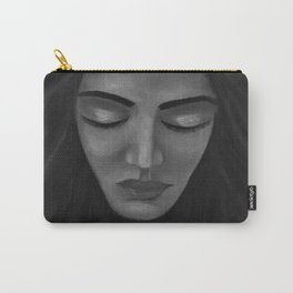 On My Mind by Lu, black-and-white Carry-All Pouch
